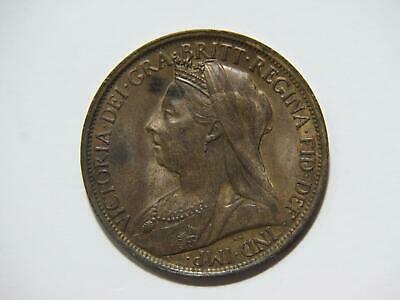 $3.25 • Buy Great Britain 1896 One Penny Queen Victoria World Coin 🌈⭐🌈