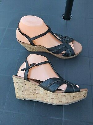 FATFACE HEATHER CURVE LEATHER WEDGE SIZE 6 Eur 39 Spring  Summer  • 24.99£