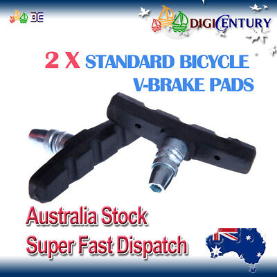 AU4.99 • Buy 1 Pair STANDARD V-BRAKE PADS For Hybrid / Comfort / Mountain Bikes Bicycle