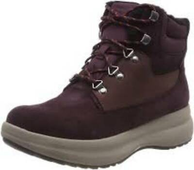 Clarks Ladies Walking Boots UN ORBIT LACE Aubergine UK 7 / 41 RRP £95 • 49.99£