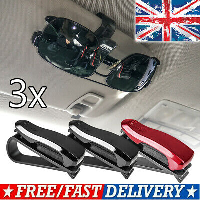 Accessories Car Sun Visor Sunglasses Holder Glasses Card Ticket Clip Vehicle 3pc • 5.99£