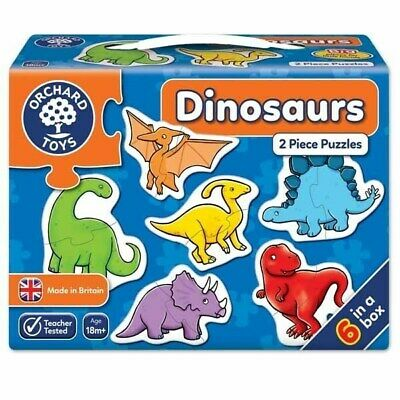 £7.99 • Buy Orchard Toys Dinosaurs - 6x2pc Jigsaw Puzzle