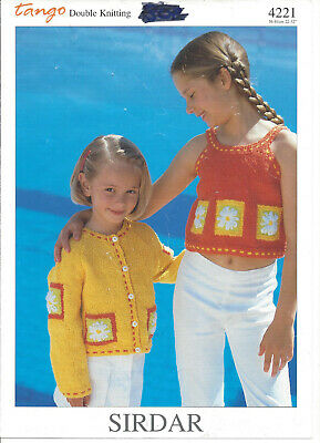 Knitting Pattern Toddler/child's Cropped Top And Cardigan In Double Knitting • 2.50£