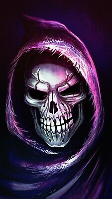 £16.99 • Buy Grim Reaper - Death Scary Skull Colourful Wall Art Huge Poster & Canvas Picture