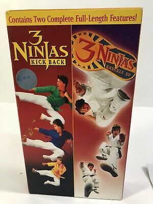 $ CDN26.59 • Buy 3 Ninjas Kick Back & Knuckle Up Double Feature Pack VHS Rare