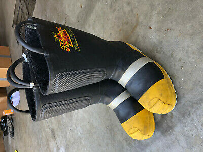 $69 • Buy Turnout Boots Firefighter Thorogood Hellfire Sz 9.5 Wide!