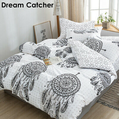 AU34.30 • Buy All Size Ultra Soft Doona Quilt Duvet Doona Cover Set Mandala Dream Catcher
