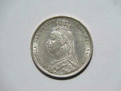 $4.25 • Buy Great Britain 1889 Shilling Queen Victoria Toned Low Grade Silver World Coin ⭐🌈