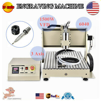 AU1179.32 • Buy 3Axis 6040 CNC Router Engraver Milling Machine Graving Drilling 1500W +Control
