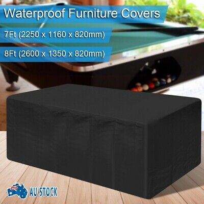 AU26.35 • Buy Waterproof Dust 7ft/8ft Outdoor Pool Snooker Billiard Table Cover Polyester Cap