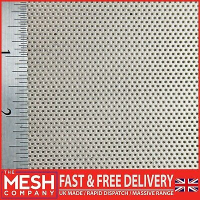 £15.55 • Buy 1mm Stainless Steel (1mm Hole X 2mm Pitch X 1mm Thickness) Perforated Mesh Sheet