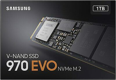 Samsung 970 EVO 1 TB PCIe NVMe M.2 Internal SSD NEW SEALED SAME DAY UK POST  • 144.99£