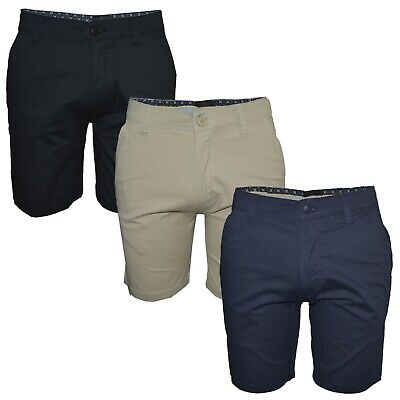 Men's Soul Star Chino Shorts Smart Summer Casual Cargo Stretch Cotton Shorts • 14.99£