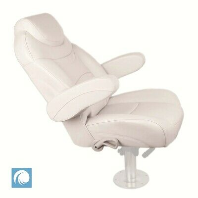 Premium Quality Reclining Helm Chair For Yachts & Caravans, Ivory Colour, Marine • 259£