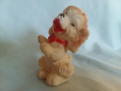 $24.30 • Buy Vintage Rubber Squeaky Baby Toy Puppy Dog Edward Mobley 1958 Arrow Rubber