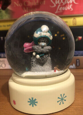 £8 • Buy Me To You Rare Teddy Beat With Scarf & Hat Very Cold Winter Snow Glitter Globe