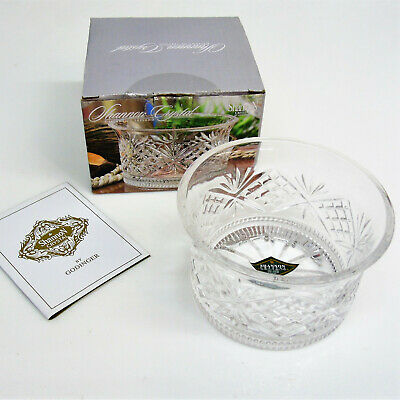 $25 • Buy NEW Godinger Shannon LEAD CRYSTAL WINE BOTTLE COASTER BOWL Or Candle Holder 4.5