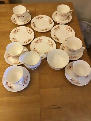 Great Condition Vintage Royal Osborne Fine Bone China Tea Service (Nearly Comple • 7.99£