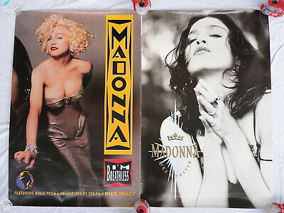 $14.99 • Buy Madonna 2 Promo Posters Like A Prayer Dick Tracy Breathless Very Good Condition
