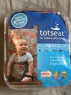 Totseat Portable Washable Squashable Highchair, Travel Seat- Never Been Used • 10£