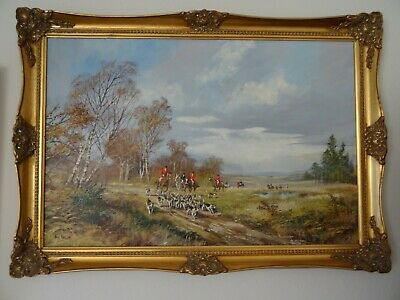 Don Vaughan Oil Painting Horse And Hounds Hunting • 1,500£