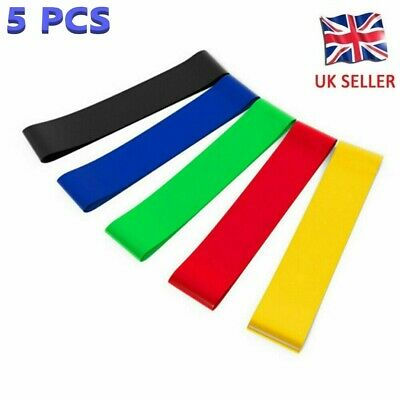 $ CDN8.53 • Buy Resistance Bands Loop Home Gym Workout Exercise Yoga Pilates Stretch Fitness -UK