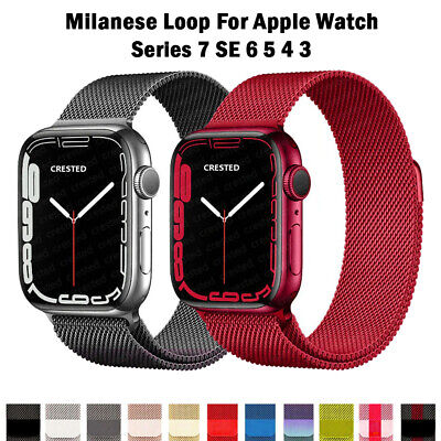 AU19.56 • Buy NEW Milanese Loop Strap For Apple Watch Band 44mm 42mm Correa Watchband Iwatch