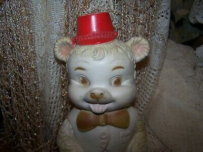 $21.99 • Buy 1966 Edward Mobley Rubber Buster Bouncing Baby Bear Hat Bowtie Squeak Toy