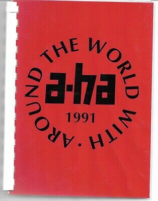 A-HA - Around The World With... - Rare 1991 Rock In Rio Tour Itinerary Book • 79.99£