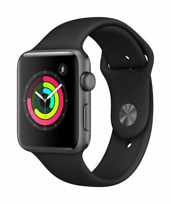 $ CDN228.06 • Buy Apple Watch Series 3 38mm GPS - Space Gray - Black Sport Band