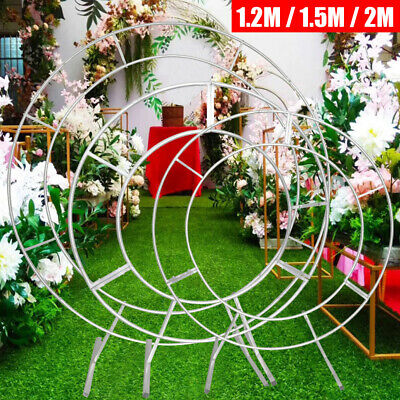 $101.50 • Buy 1.2m/1.5m/2m Wedding Ceremony Round Arch Floral Metal Ring Outdoor Moon Gate USA