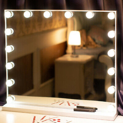 Large Hollywood Make Up Mirror Dimmable 16 Led Vanity Cosmetic Dressing Table • 109.95£