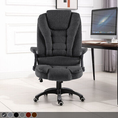 £80.99 • Buy Neo Executive Computer Desk Office Swivel Reclining Chair Faux Leather Or Fabric