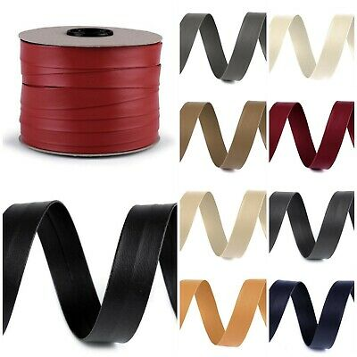 High Quality PU Leather Bias Binding Tape 1M X 20mm Many Colours Trim Edge Decor • 2.99£
