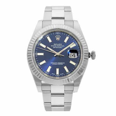 $ CDN10825.45 • Buy Rolex Datejust 41 Steel 18K White Gold Blue Dial Automatic Mens Watch 116334