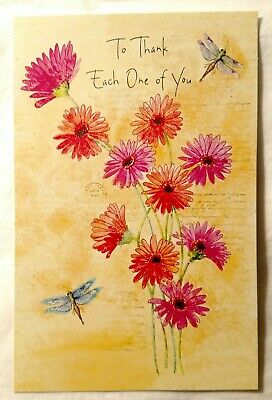 $7.99 • Buy Thank You Greeting Card American Greetings Floral Flowers New With Envelope