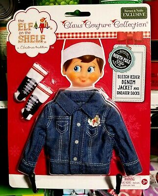 AU14.36 • Buy The Elf On The Shelf ~ Claus Couture Clothes ~ Denim Jacket And Socks.....