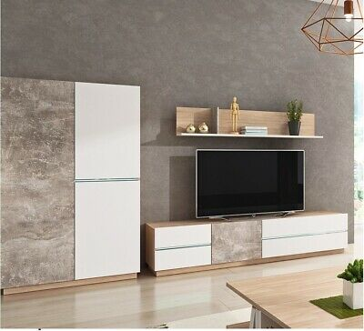 Living Room Furniture Set Tv Unit Display Stand Wall Mounted Cupboard Cabinet • 55£