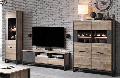 Living Room Furniture Set Tv Unit Display Stand Wall Mounted Cupboard Cabinet • 150£