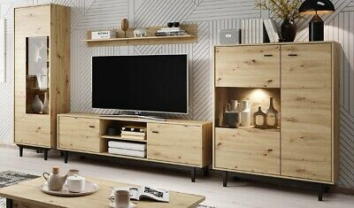 Living Room Furniture Set Tv Unit Display Stand Wall Mounted Cupboard Cabinet • 115£