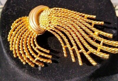 $5.99 • Buy Stunning Vintage M. Jent Gold Tone Abstract Pin Brooch