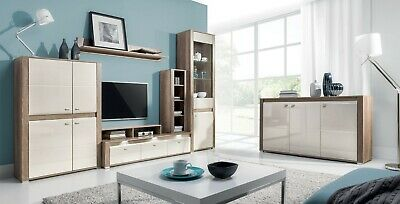 Living Room Furniture Set Tv Unit Display Stand Wall Mounted Cupboard Cabinet • 200£
