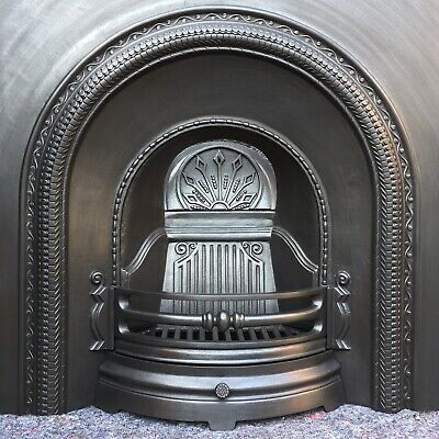 Cast Iron Fireplace / Fire Surround / Insert / Victorian Arch Style / Solid Fue • 310£