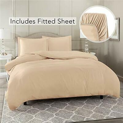 $42.49 • Buy Nestl Bedding Duvet Cover With Fitted Sheet 4 Piece Set - Soft D California King