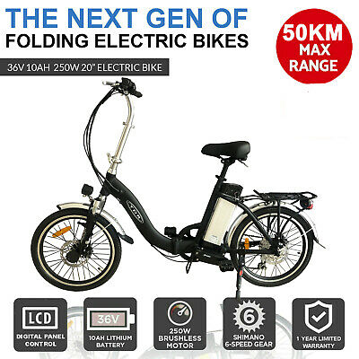 AU1029.95 • Buy *FOLDING ELECTRIC BICYCLE SCOOTER (ebike) - No Driver's License Needed! 250W 36V