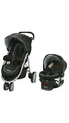 Graco Baby Aire3 Travel System Stroller With SnugLock 30 Infant Car Seat Gotham • 180.25£