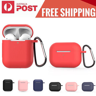 AU4.49 • Buy For Apple AirPods 1&2 Silicone Case Slim Skin LED Visible Anti Lost Shockproof