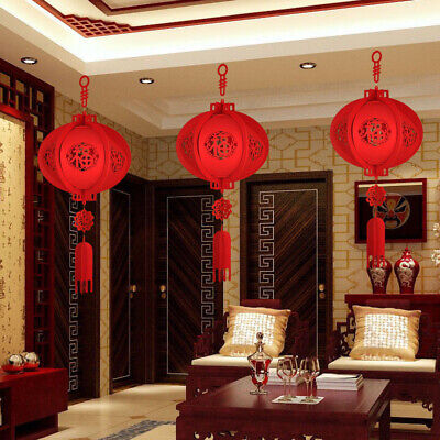Chinese Asian Red Lanterns Hanging Festival Party New Year Wedding Decor • 9.43£