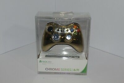 AU149 • Buy Xbox 360 Special Edition Gold Chrome Series Wireless Controller Limited New RARE