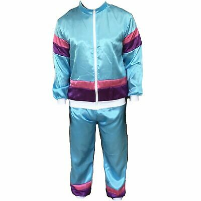 Mens 1980s 80s Shell Suit Tracksuit Scouser Fancy Dress Costume Add Wig Tash • 16.99£